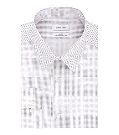 Calvin Klein Claret Print Point Collar Slim Fit Dress Shirt