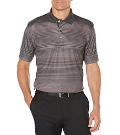 PGA TOUR Men's Short Sleeve Printed Heather Stripe Polo
