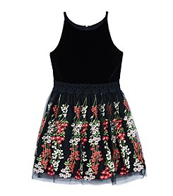 A. Byer Girls' 7-16 Sleeveless Embroidered Dress