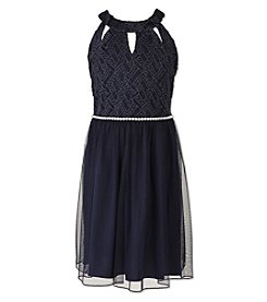 Speechless® Girls' 7-16 Sparkle Dress With Rhinestone Belt