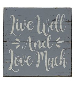 Sheffield Home Live Well Love Much Box Sign