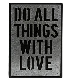 Sheffield Home Galvanized Do With Love Box Sign