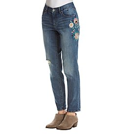 Jessica Simpson Floral Embroidered Bestfriend Jeans