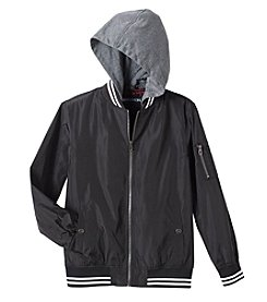 Distortion Boys' 8-20 Hooded Solid Bomber Jacket