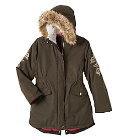 Hawke & Co. Girls' 7-16 Embroidered Parka