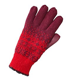 Isotoner Signature Fairisle Print Gloves