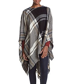 Collection 18 Exaggerated Plaid Poncho