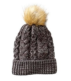 Ruff Hewn Cable Beanie With Pom