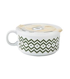 Boston Warehouse White Holiday Knit 22-oz. Souper Mug with Lid