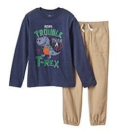 Kids Headquarters Boys' 4-7 2 Piece Monster Tee and Jogger Pants Set