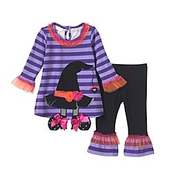 Bonnie Jean Baby Girls' 12M-24M Witches Hat Top And Leggings Set