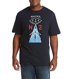 Nautica Men's Big & Tall Rowing Graphic Tee