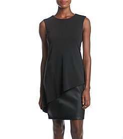 Calvin Klein Faux Leather Panel Dress