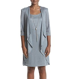 R&M Richards Petites' Metallic Sweater Dress