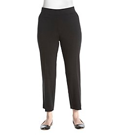 Nine West Plus Size Straight Leg Stretch Ankle Pants
