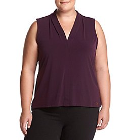 Calvin Klein Plus Size V-neck Solid Cami Top