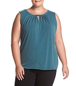 Nine West Plus Size Keyhole Neckline Blouse