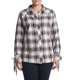 Hippie Laundry Plus Size Plaid Shirt