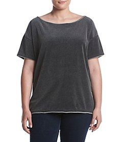 Hippie Laundry Plus Size Boxy Velour Top