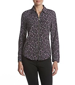 MICHAEL Michael Kors® Petites' Layered Look Zip Blouse