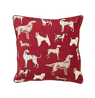 laura hunterhill cranberry decorative pillow