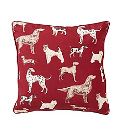 Laura Ashley® Hunterhill Cranberry Decorative Pillow