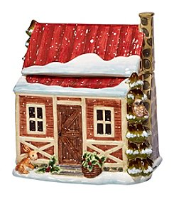 Certified International by Susan Winget Winter's Lodge 3D Cabin Cookie Jar