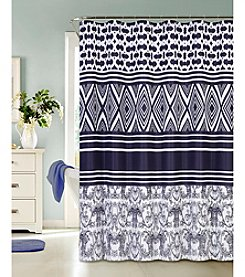 Dainty Home Concentric Diamonds Shower Curtain