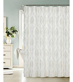 Dainty Home Vienna Jacquard Shower Curtain