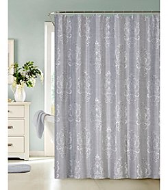 Dainty Home Bella Faux Embroidery Shower Curtain