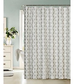 Dainty Home Twilight Jacquard Shower Curtain