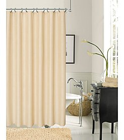 Dainty Home Crocodile Heavy Textured Fabric Shower Curtain