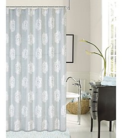 Dainty Home Rose Jacquard Woven with Showerink Yarns Shower Curtain