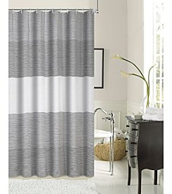 Dainty Home Rose Jacquard Woven with Shrink Yarns Shower Curtain