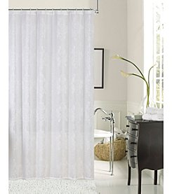 Dainty Home Emily Embroidered Shower Curtain