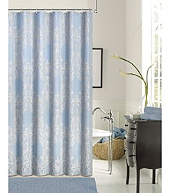 Dainty Home Floral Damask Shower Curtain
