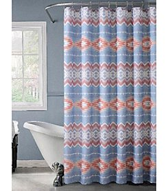 Dainty Home New Geo Lurex Shower Curtain