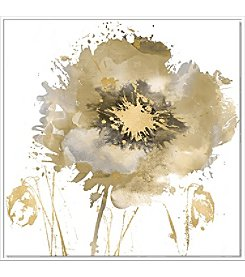 Artissimo Designs Flower Burst in Gold II Canvas Wall Art
