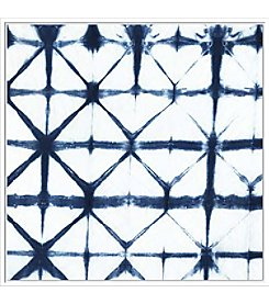 Artissimo Designs Indigo Tiles VIII Canvas Wall Art