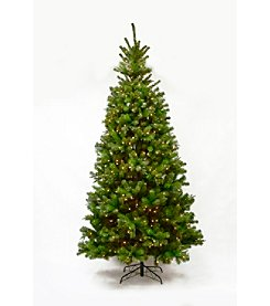 Living Quarters® Tartan Christmas 9-Ft. Artificial Pre-lit Pine Tree