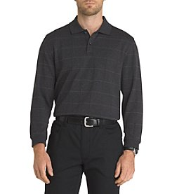Van Heusen Men's Big & Tall Flex Jaspe Window Long Sleeve Polo
