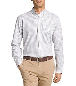 IZOD® Men's Checked Long Sleeve Button Down