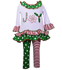 Bonnie Jean® Girls' 12M-6X Long Sleeve Joy Dress With Polka Dot Pants
