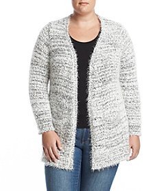 Relativity Plus Size Eyelash Cardigan