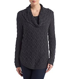 Jeanne Pierre Textured Cowl Neck Sweater