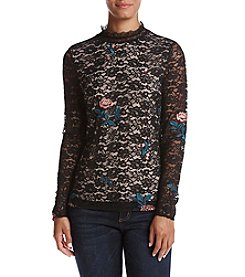 Ivanka Trump Embroidered Lace Top