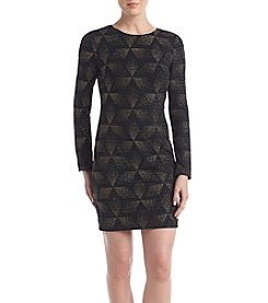 Vince Camuto Geometric Patterned Dress