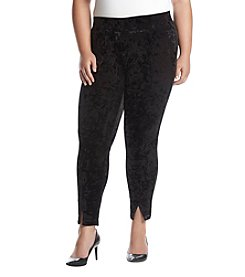 A. Byer Plus Size Velvet Leggings