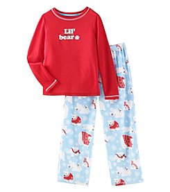 KN Karen Neuburger Kids' Lil Bear Knit Combo Pajamas