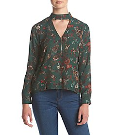 Sequin Hearts® Floral Printed Choker Top